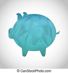 piggy icon design, vector illustration eps10 graphic