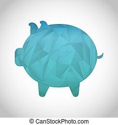 piggy icon design, vector illustration eps10 graphic