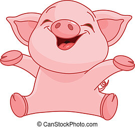 Piggy - Illustration of very cute piggy