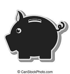 piggy safe money saving  design