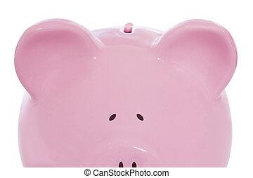 piggy, sbirciando, banca