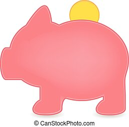 piggy with currency