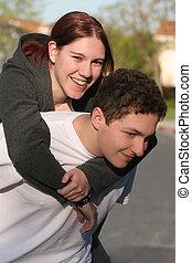 piggyback の 乗車