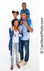 piggyback の 乗車, 家族, 子供, 寄付