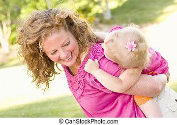 piggyback, 公園娘, 母