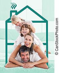piggyback, 楽しみ, 持つこと, 家族