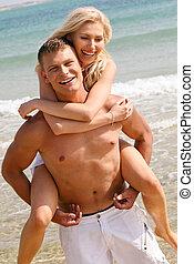 piggybackfahrt, sandstrand