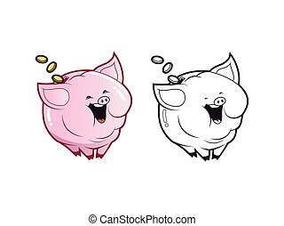 piggybank character coloring pages