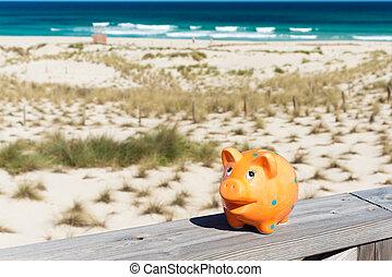 piggybank, em, feriados