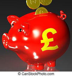 piggybank, investir, projection, pièces, britannique, entrer