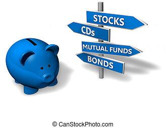 piggybank, investissement