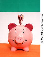 Piggybank with ten euros