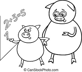 piglet at match coloring page - Chemistry Coloring Book