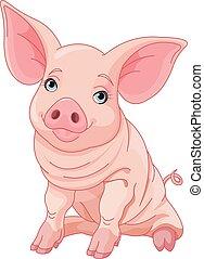 Piglet - Illustration of cute pig