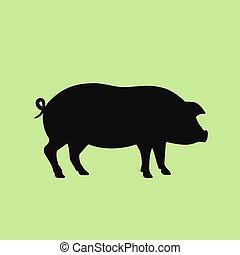 Piglet vector icon
