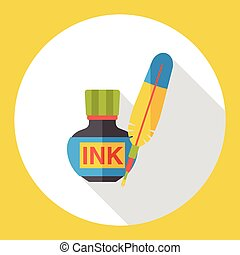 pigment ink flat icon