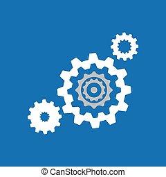 pignon bleu, fond, collection, conception, coopération, ...