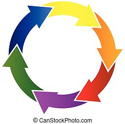 pijl, het verbinden, kleurrijke, logo