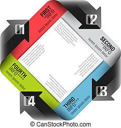 pijl, moderne, ontwerp, mal, cyclus