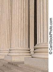 pijlers, van, wet, en, informatie, op, de verenigde staten, opperst hof, in, washington dc