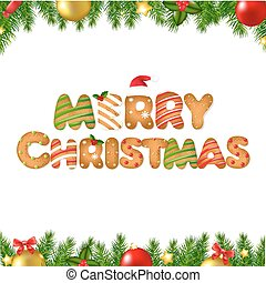 pijnboom, koekje, peperkoek, randjes, kerstmis