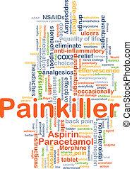 pijnstiller, achtergrond, concept