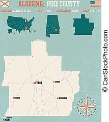 Pike County in Alabama USA