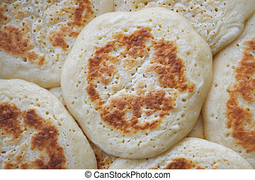 Pikelets food background - Pikelets food abstract background...