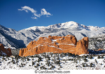 Pike's Peak and The Garden of the Gods - A view of Pike's ...