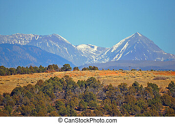 Pikes peak in the Rocky Mountain landscape - A landscape...