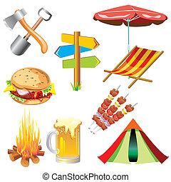piknik, icônes