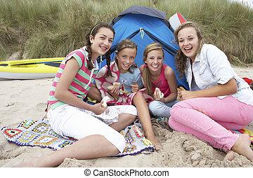 piknik, nastolatki, posiadanie