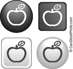 pikolak, jabłko, zbiór, ikona