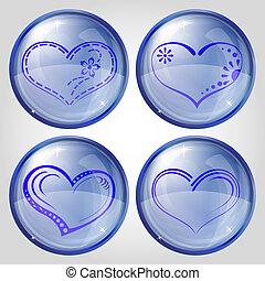 pikolak, komplet, serce, valentine