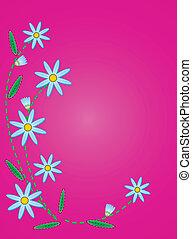 pikowany, wektor, błękitny, cornflowers