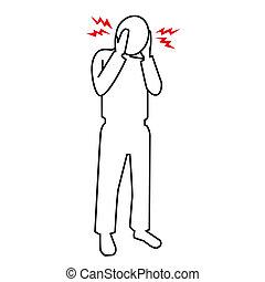 Kopfschmerzeniconset Enthalten Die Symbole Als Spannung Kopfschmerzen  Clusterkopfschmerzen Migräne Gehirn Symptom Und Mehr Stock Vektor Art und  mehr Bilder von Besorgtheit - iStock