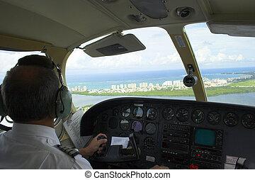 pilóta, repülőgép