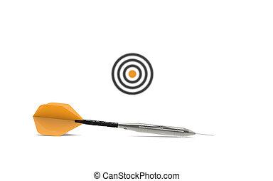 pil, och, avlägsen, target., skärpedjup