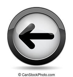 pil venstre, ikon