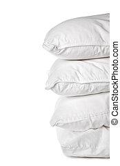 pila, blanco, fundas de almohada, 4