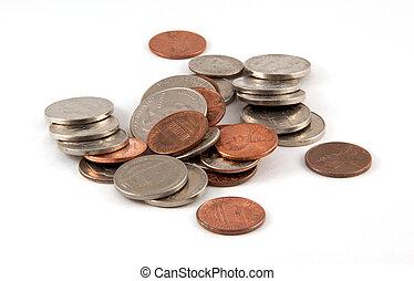 pila, de, coins