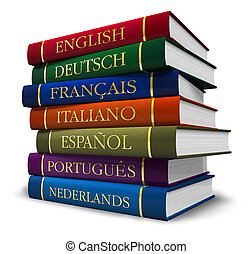 pila, de, diccionarios