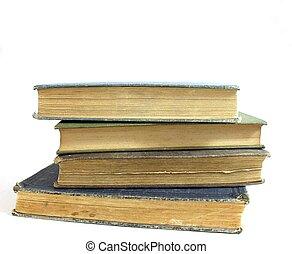 pila, di, anticaglia, libri