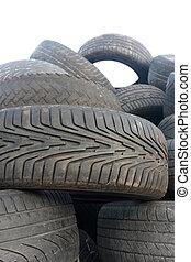pila, di, pneumatici