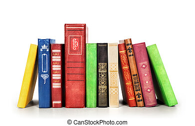pila libri, isolato, su, uno, sfondo bianco