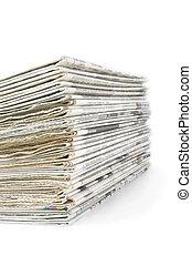 pila, periódicos, viejo