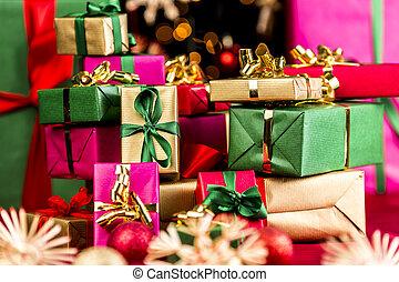 pila, presentes, navidad