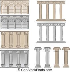 pilares, colunas