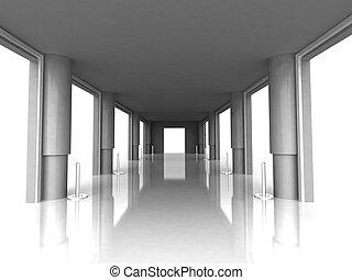 pilares, vestíbulo