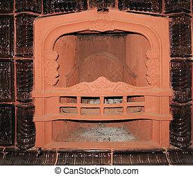 pilasters, fournaise, cheminée, luxe, classique